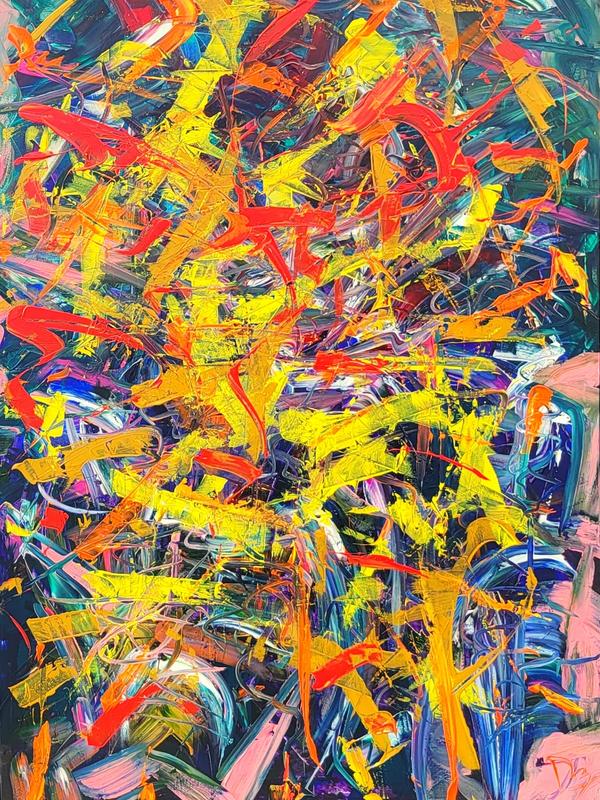 American Graffiti - Original Abstract Art - Art on Walls - Jason Dzamba