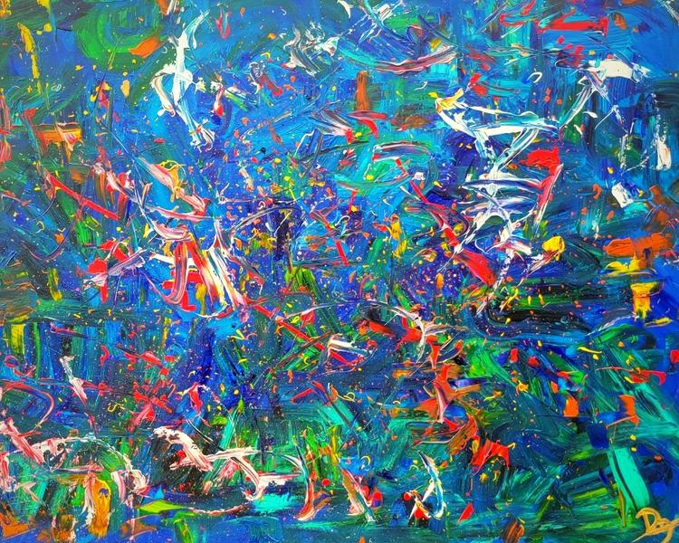 AmOcean - Original Abstract Art - Art on Walls - Jason Dzamba