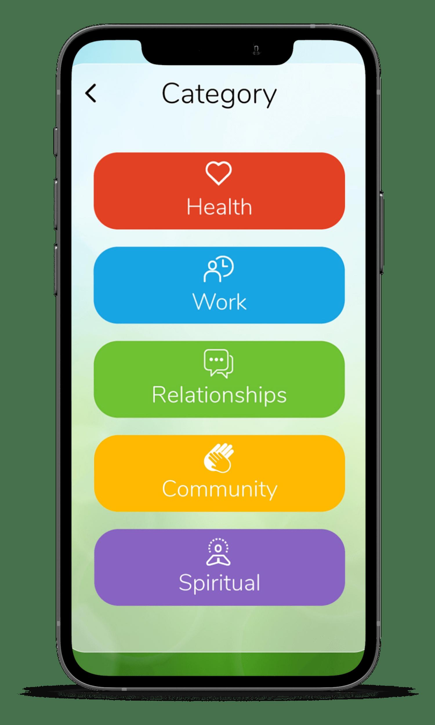 Gadjet App Hero Image - Goal Setting Categories